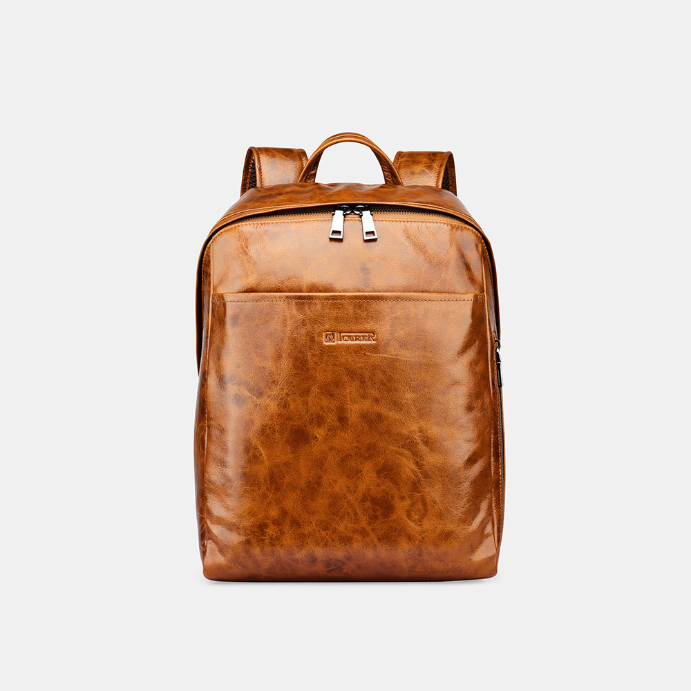 Vintage Oil Wax Waterproof Real Leather Backpack