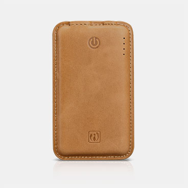 Genuine Leather Portable Power Bank 8000mAh