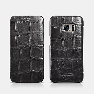 Embossed Crocodile Genuine Leather Folio Case For SAMSUNG Galaxy S7