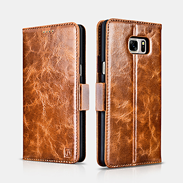 Oil Wax Leather Wallet Folio Case For SAMSUNG Galaxy Note 7
