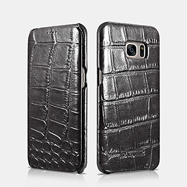 Embossed Crocodile Genuine Leather Folio Case For SAMSUNG Galaxy S7 edge