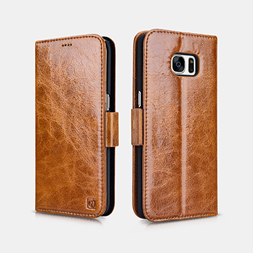 Oil Wax Leather Detachable 2 in 1 Wallet Folio Case For SAMSUNG Galaxy S7 edge