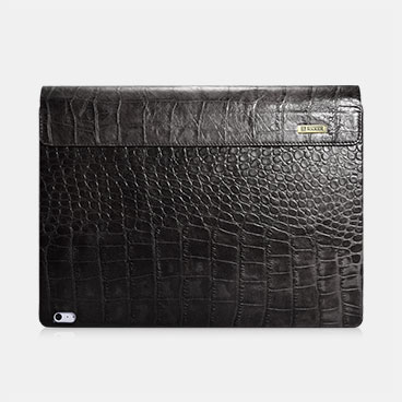 Embossed Crocodile Genuine Leather Detachable Flip Case For Surface Book