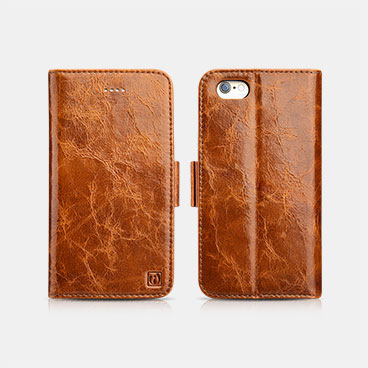 Oil Wax Leather Detachable 2 in 1 Wallet Folio Case For iPhone 6/6S