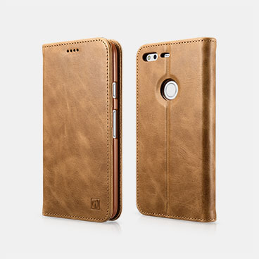 Genuine Leather Folio Case For Google Pixel