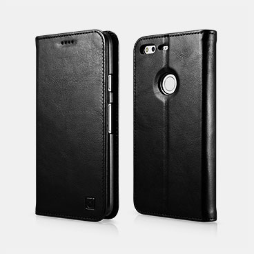 Genuine Leather Folio Case For Google Pixel XL