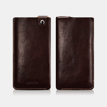 Vegetable Tanned Leather 4.7inch Straight Leather Pouch Universal Mobile Phone Pouch