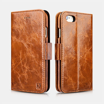 Oil Wax Leather Detachable 2 in 1 Wallet Folio Case For iPhone 6 Plus/6S Plus