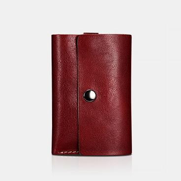 Vegetable Tanned Leather Credit Card Case