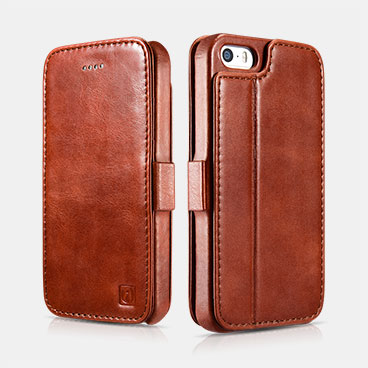 Vintage Wallet Case with Two Credit Cards Slot Design For iPhone 5/5S/SE