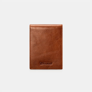 Vegetable Tanned Leather  Driver License Slim Card Holder With ID Card Window with Three card slots