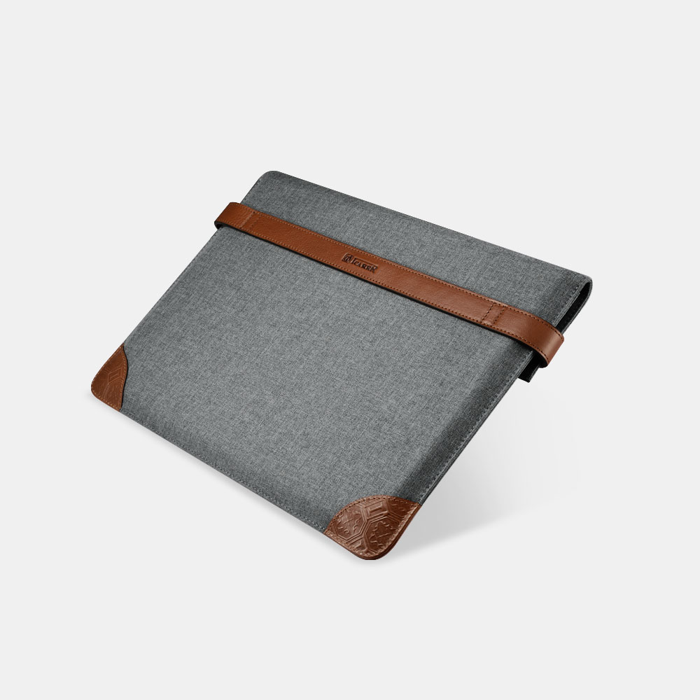 Fabric Tablet Sleeve with Two Buttons(Size: iPad Pro 12.9 inch)