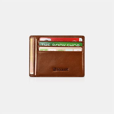 Genuine  leather Card Holder with Three Card Slots