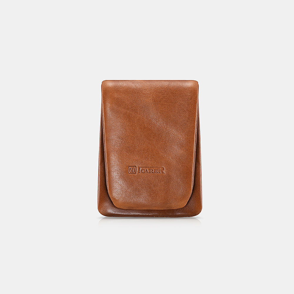 Genuine Leather Waterproof Fold Design Coin Purse