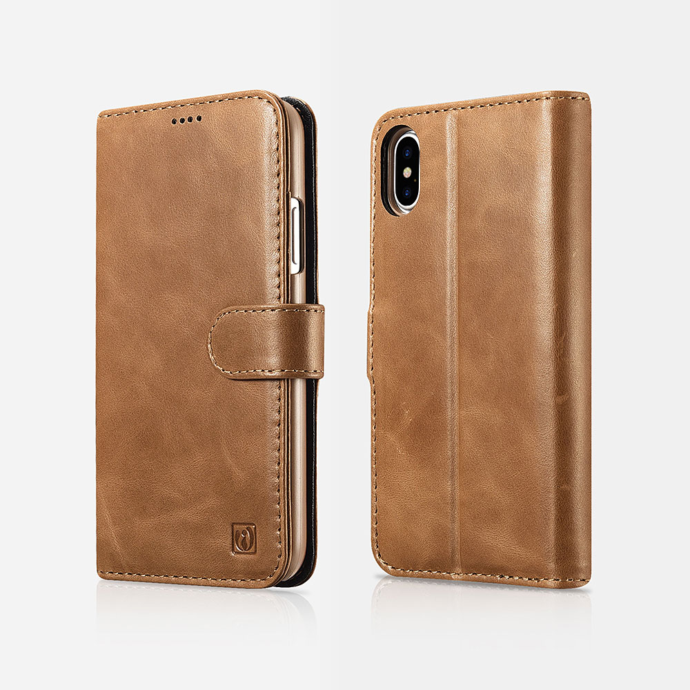iPhone X/XS Leather Detachable 2 in 1 Wallet Folio Case