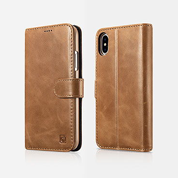 iPhone X Leather Detachable 2 in 1 Wallet Folio Case