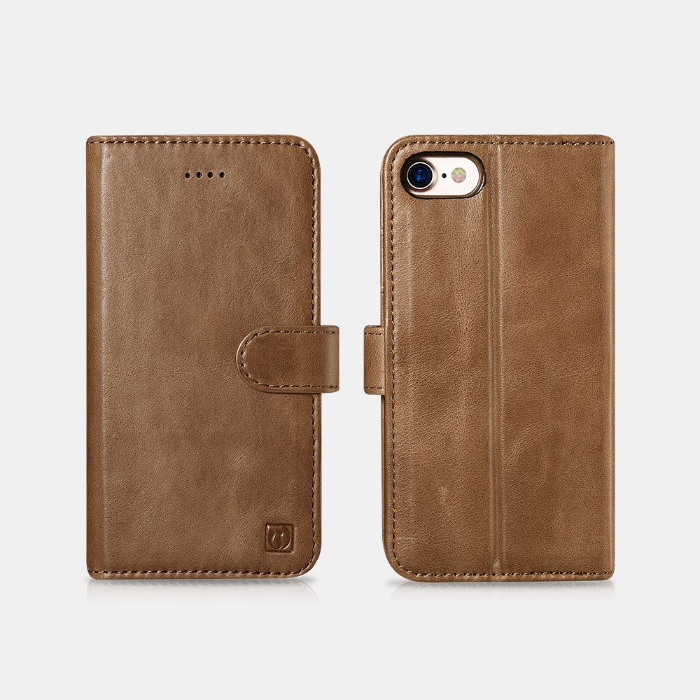 iPhone 7/8 Genuine Leather Detachable 2 in 1 Wallet Folio Case