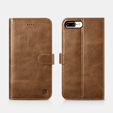 iPhone 7Plus/8Plus Genuine Leather Detachable 2 in 1 Wallet Folio Case