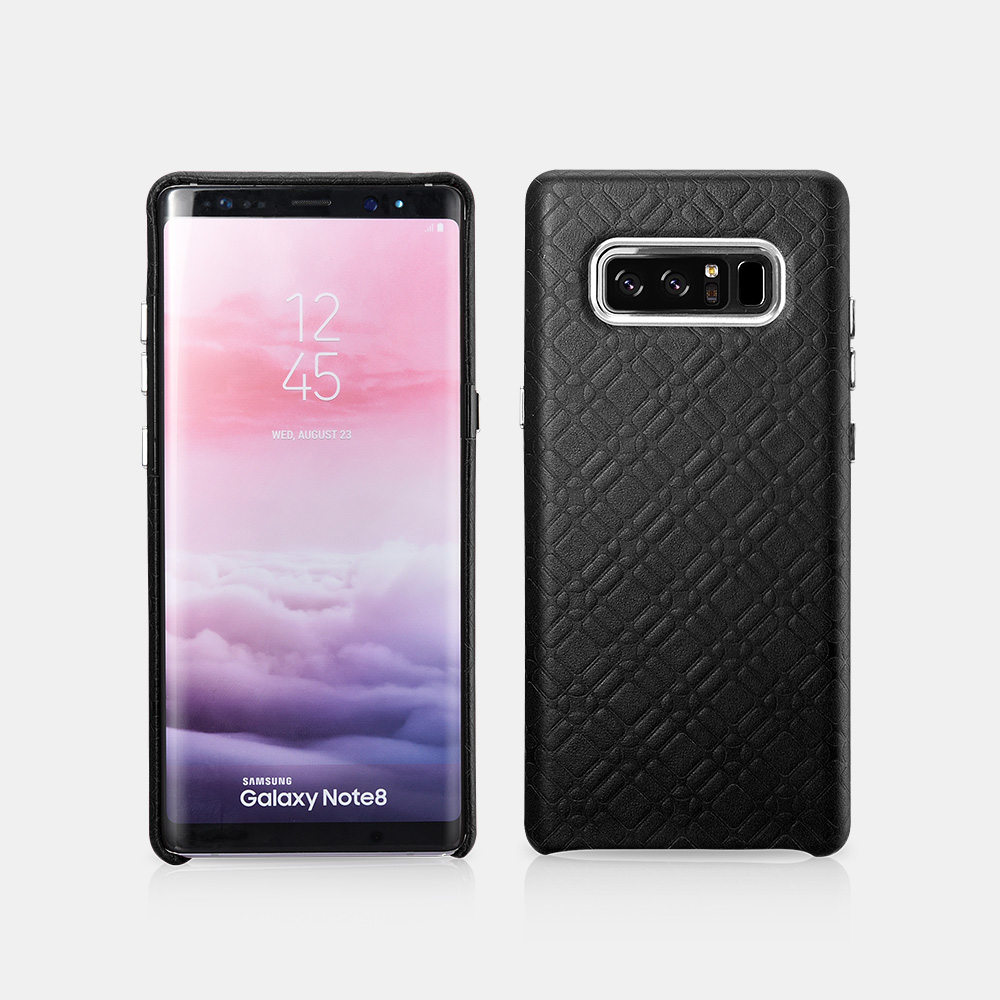 Note 8 Check Pattern Luxury Series Back Cover