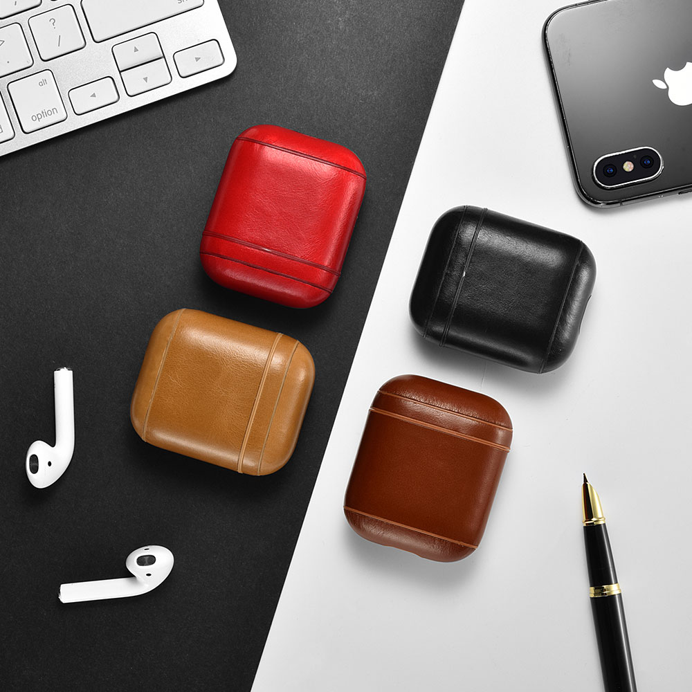 Vintage Leather Airpods Protective Case Others