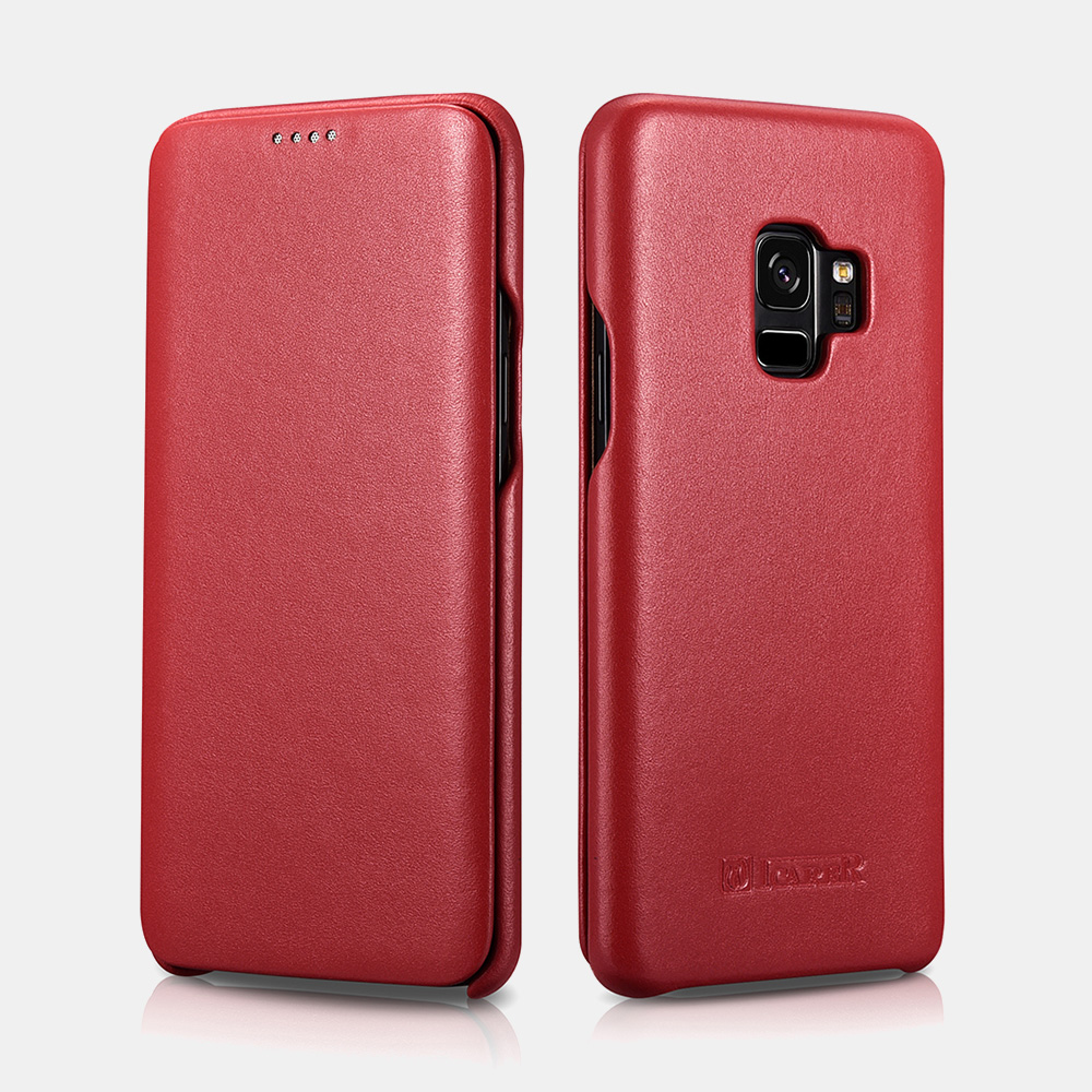 Samsung S9 Luxury Series Curved Edge Real Leather Folio Case