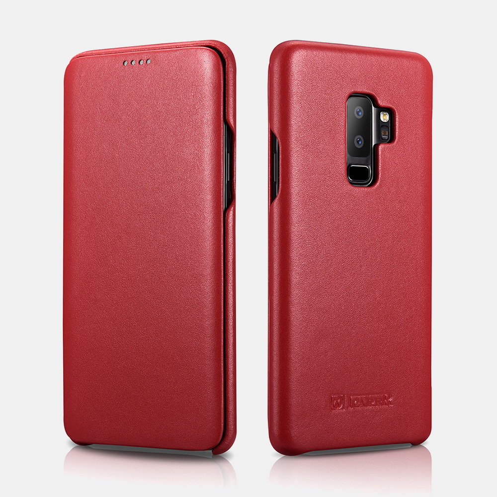 Samsung S9 Plus Luxury Series Curved Edge Real Leather Folio Case
