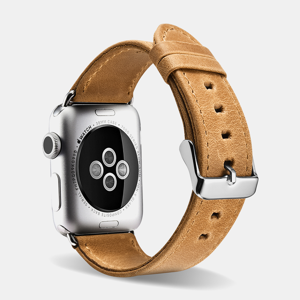 Crazy Horse Leather Series Watch Strap For Apple Watch