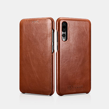 Vintage Real Leather Folio Case for Hauwei P20 Pro
