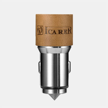 Genuine Leather Car Charger