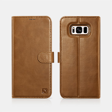 Samsung S8 Plus Genuine Leather Detachable 2 in 1 Wallet Folio Case