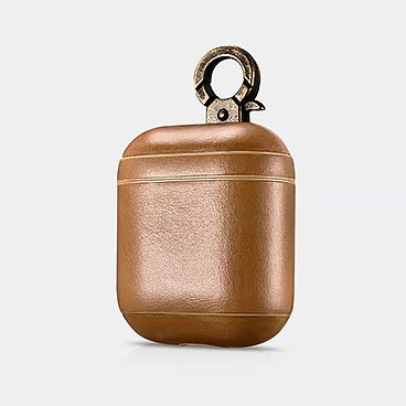 Vintage Series Real Leather Airpods Case With The Metal Hook