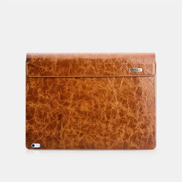 Oil Wax Vintage Genuine Leather Detachable Flip Case for Surface Book 2