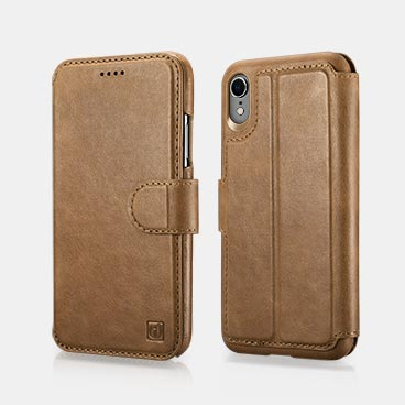 iPhone XR Genuine Leather Detachable 2 in 1 Mobile Phone Wallet Folio Case