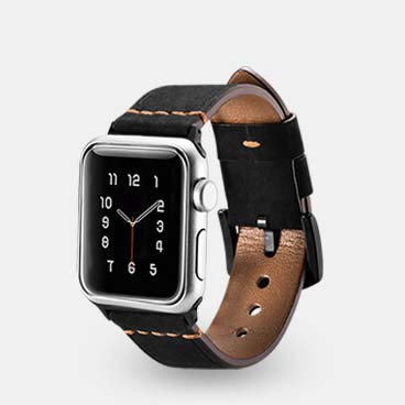 Knight Series Genuine Cowhide Leather Watchstrap for iWatch 38mm/40mm