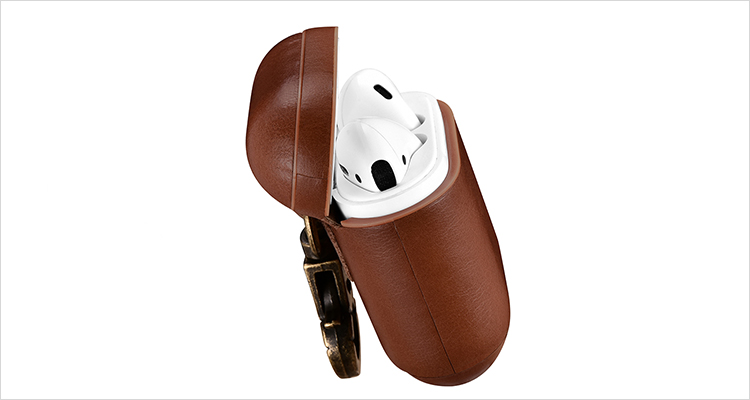 genuine leather airpods case