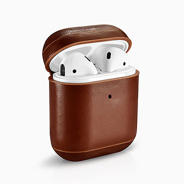 Vintage  Leather Airpods Protective Case with LED Indicator Hole