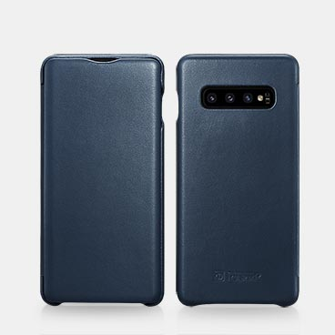 Samsung S10+ Luxury Series Curved Edge Real Leather Folio Case