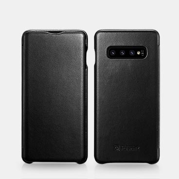 Samsung S10 Luxury Series Curved Edge Real Leather Folio Case