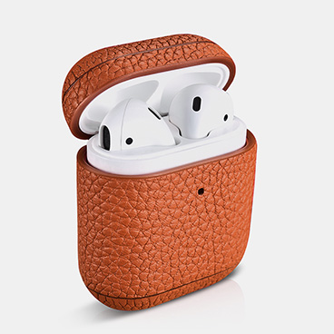 Hermes Leather Airpods Case with LED Indicator Hole