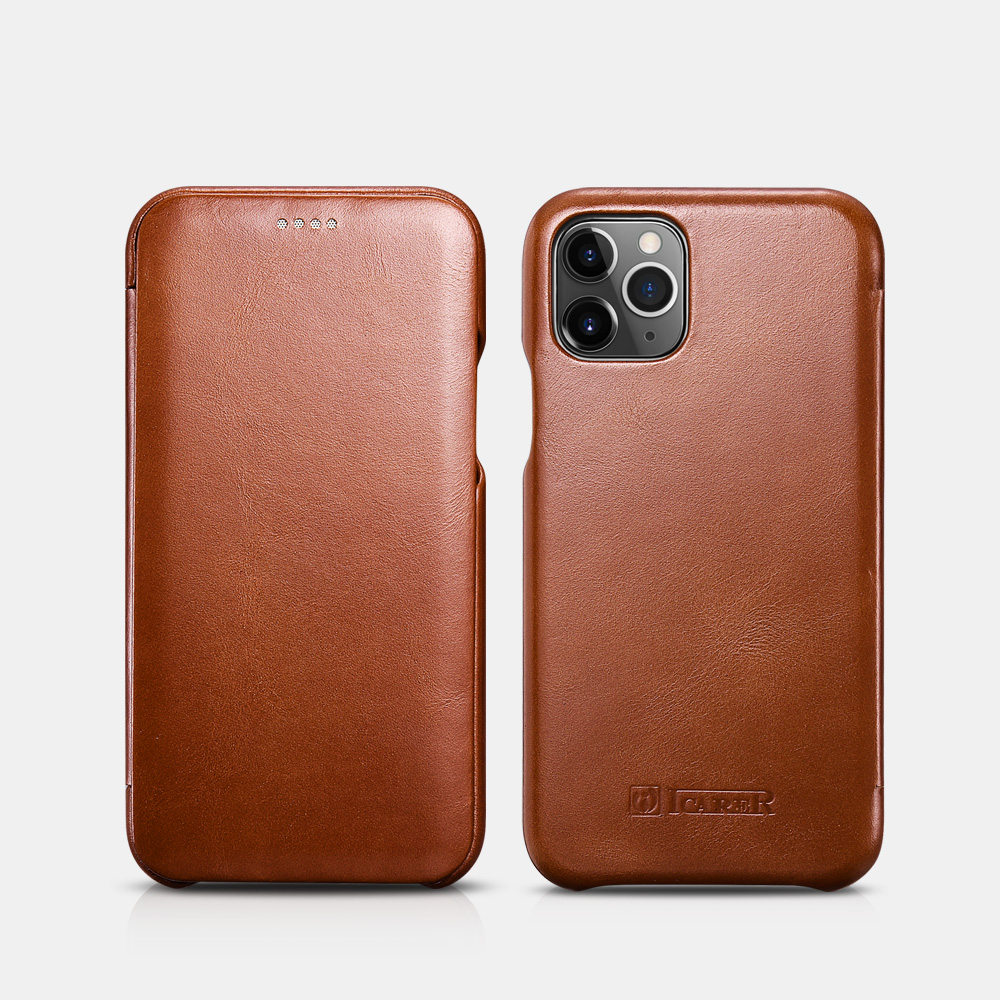 iPhone 11 Pro Curved Edge Vintage Folio Case(5.8 inch)