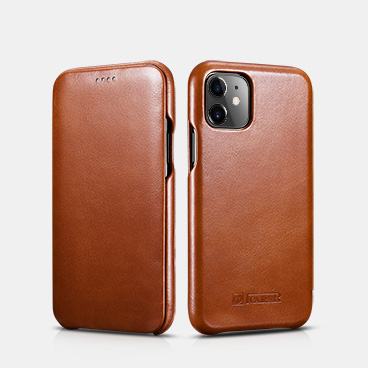 iPhone 11 Curved Edge Vintage Folio Case(6.1 inch)