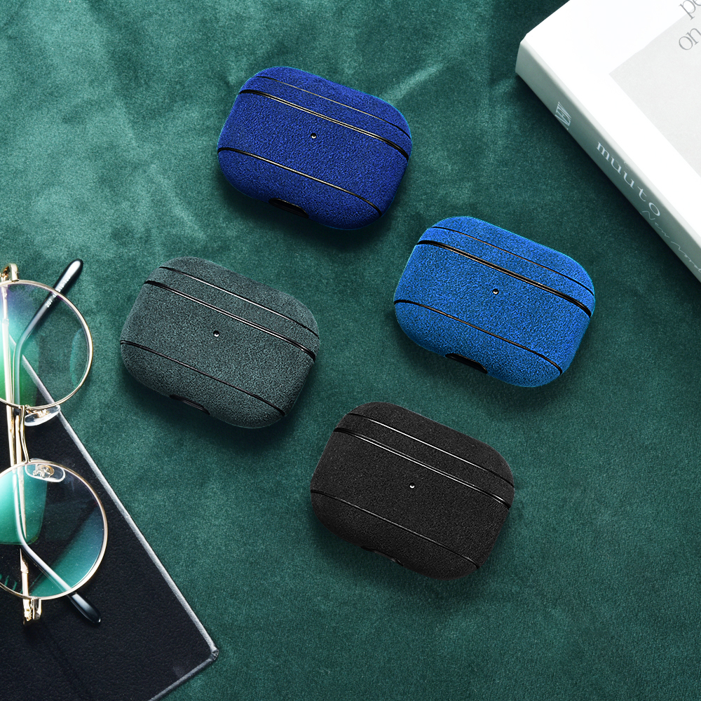 Airpods Pro Alcantara Leather Protective Case
