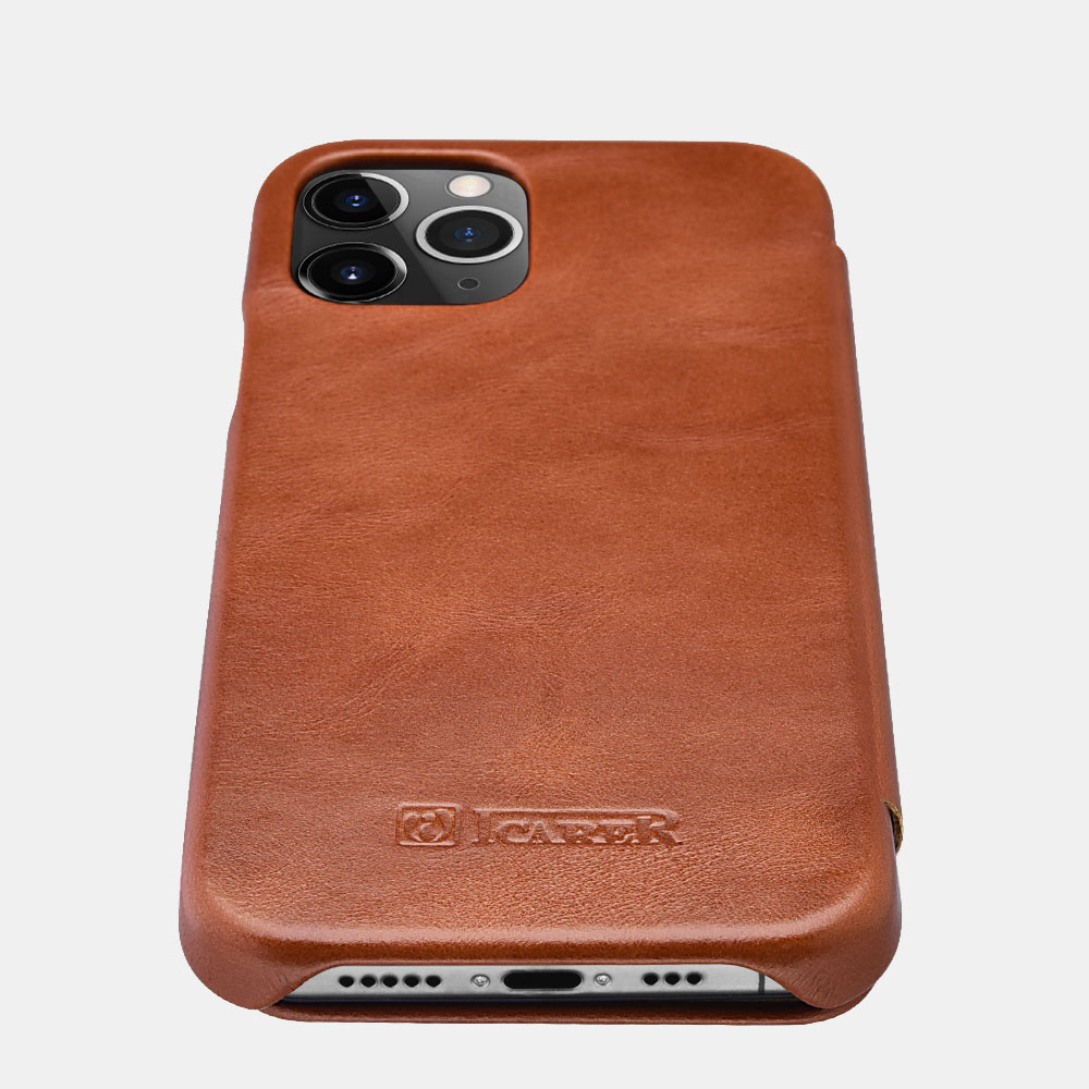 iPhone 12 Pro Max Curved Edge Vintage Folio Case - Leather Cases for iPhone