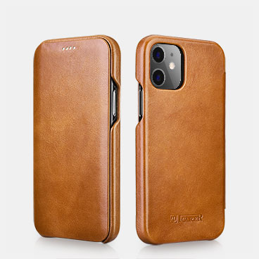 iPhone 12 Curved Edge Vintage Folio Case