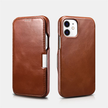 Vintage Leather Magnetic Style Folio Case for iPhone 12 mini