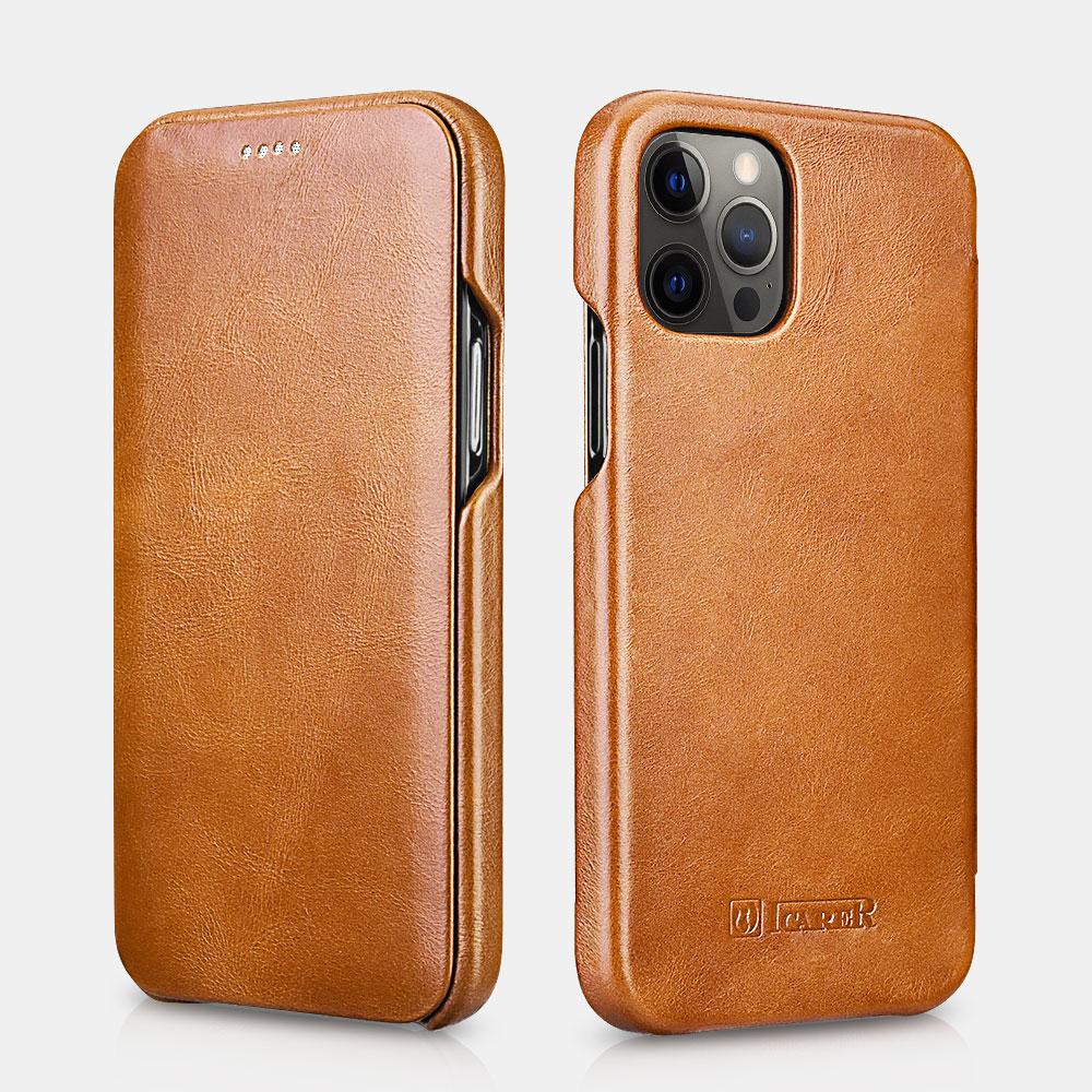 iPhone 12/12 Pro Curved Edge Vintage Folio Case - Leather ...