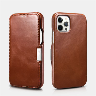Vintage Leather Magnetic Style Folio Case for iPhone 12 Pro Max