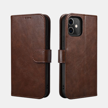 Classic PU Leather Wallet Case for iPhone 12 mini(5.4inch)