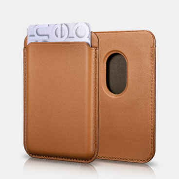 Oil Wax Genuine Leather Magsafe Wallet Case for iPhone