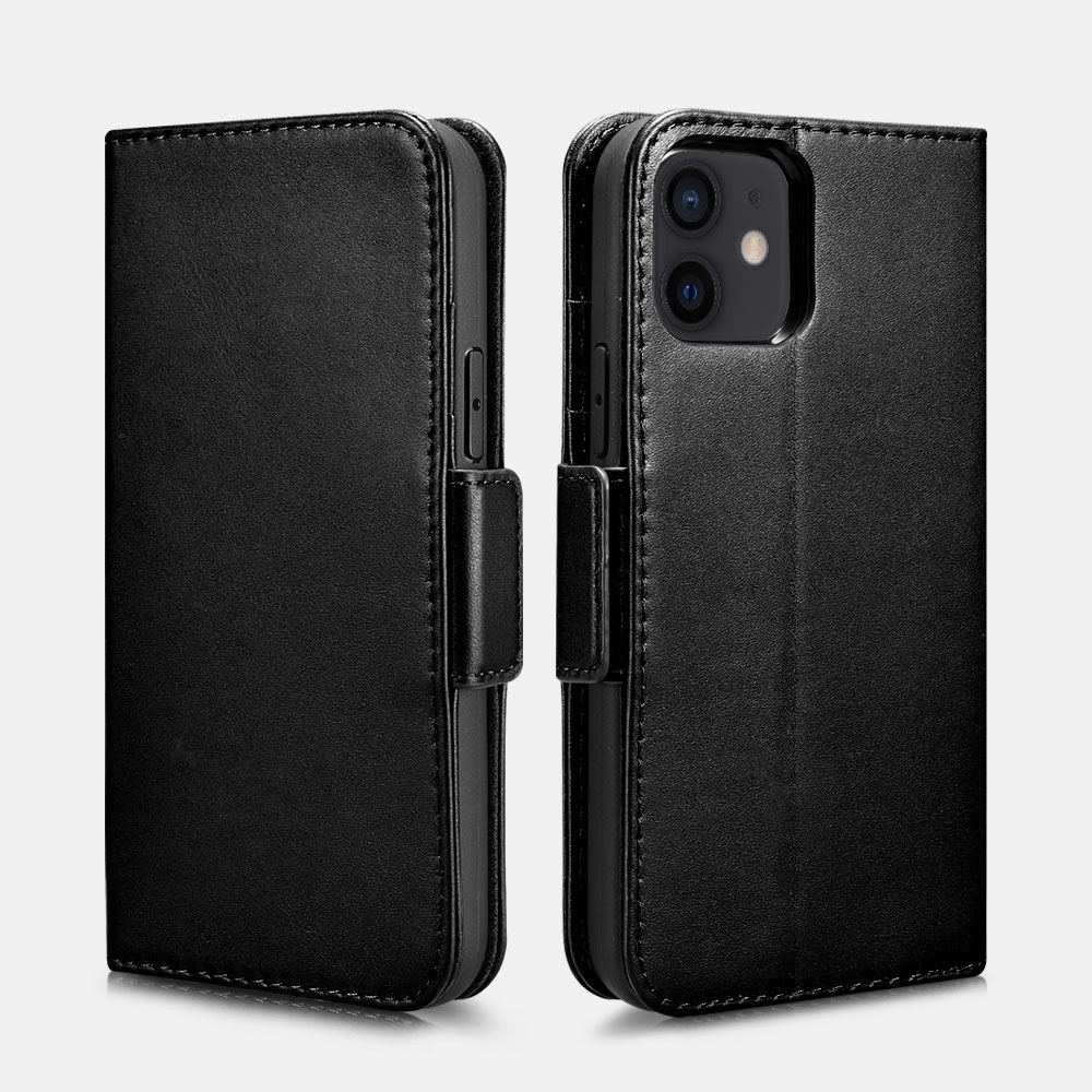iPhone 12/12 Pro Haixing Series Real Leather Wallet Case (Detachable 2-in-1)